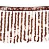 Sequin Fringe 6mm Trim Hologram Brown 15cm Long